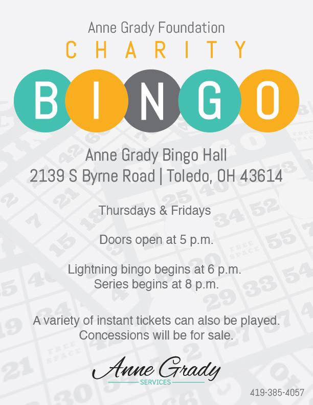 Charity Bingo Flyer
